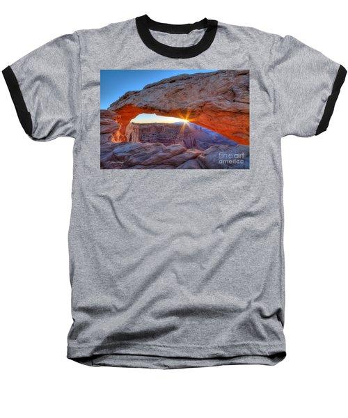 Sunrise At Mesa Arch Baseball T-Shirt