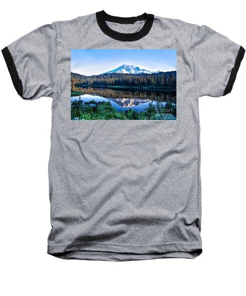 Sunrise At Reflection Lake Baseball T-Shirt by Ronald Lutz