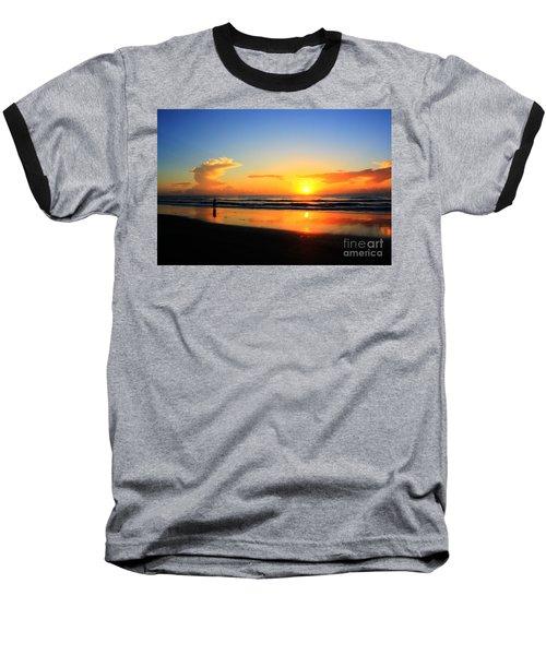 Sunrise Couple Baseball T-Shirt by Dan Stone