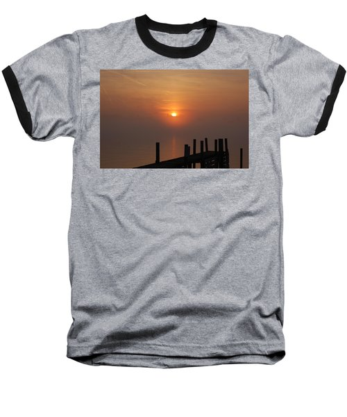 Sunrise On The River Baseball T-Shirt