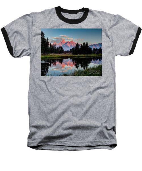 Sunrise On The Tetons Baseball T-Shirt