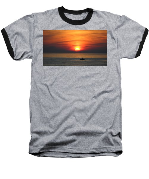 Baseball T-Shirt featuring the photograph Sunrise Over Gyeng-po Sea by Kume Bryant