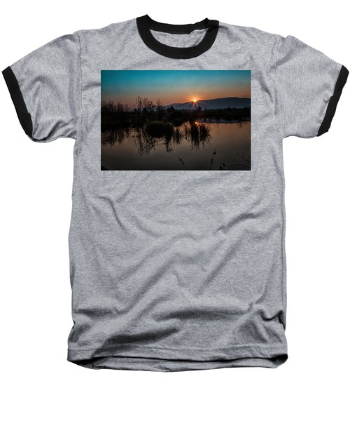 Sunrise Over The Beaver Pond Baseball T-Shirt