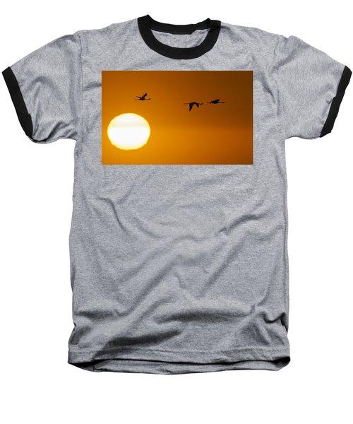 Sunset 3 Baseball T-Shirt