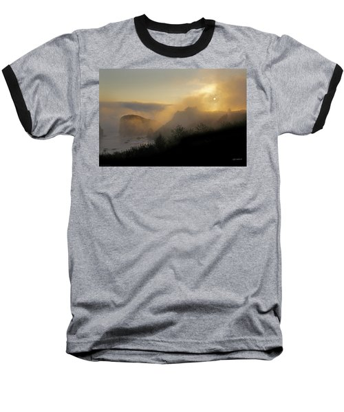 Sunset At Harris Beach Baseball T-Shirt by Mick Anderson