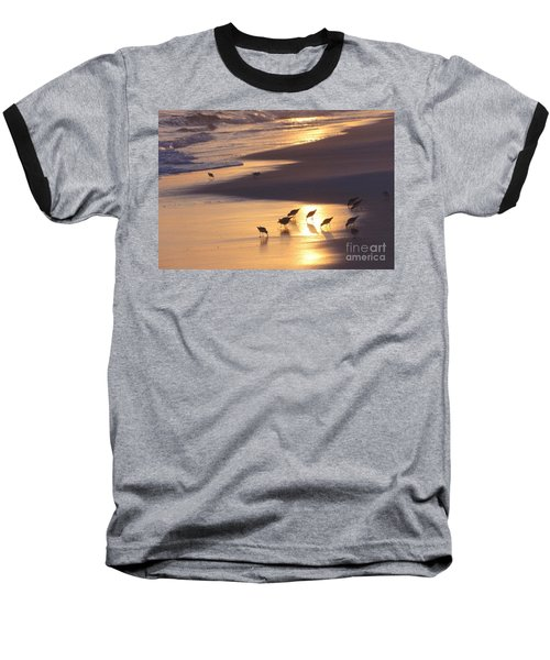 Baseball T-Shirt featuring the photograph Sunset Beach by Nava Thompson