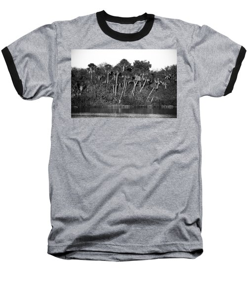 Sunset Black And White Baseball T-Shirt