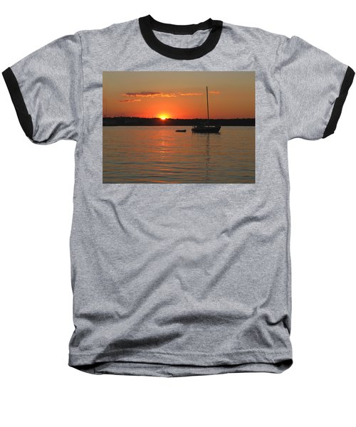 Baseball T-Shirt featuring the photograph Sunset Cove by Clara Sue Beym