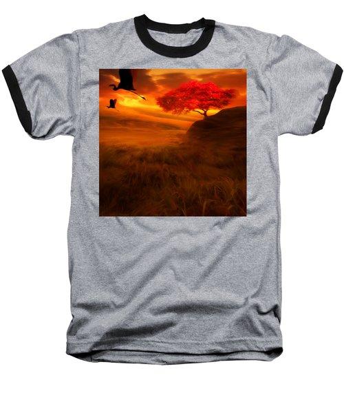 Sunset Duet Baseball T-Shirt by Lourry Legarde
