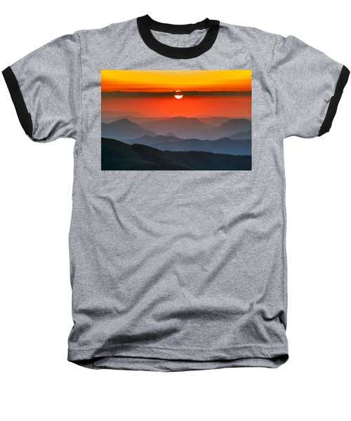 Sunset In Balkans Baseball T-Shirt