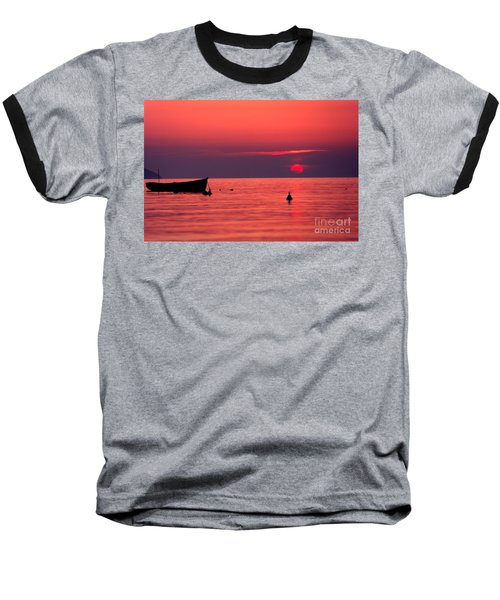 Baseball T-Shirt featuring the photograph Sunset In Elba Island by Luciano Mortula