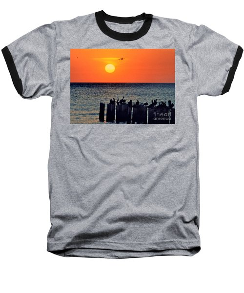 Baseball T-Shirt featuring the photograph Sunset In Florida by Lydia Holly