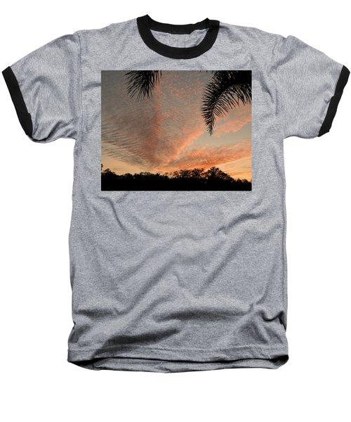 Sunset In Lace Baseball T-Shirt