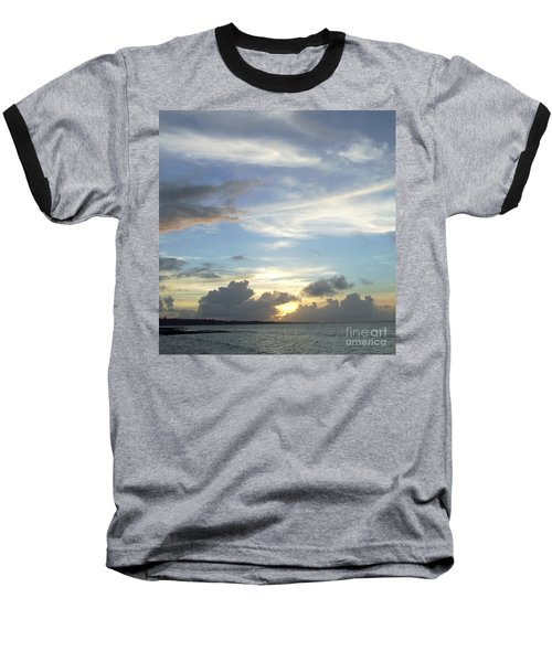 Baseball T-Shirt featuring the photograph Sunset In Majuro by Andrea Anderegg