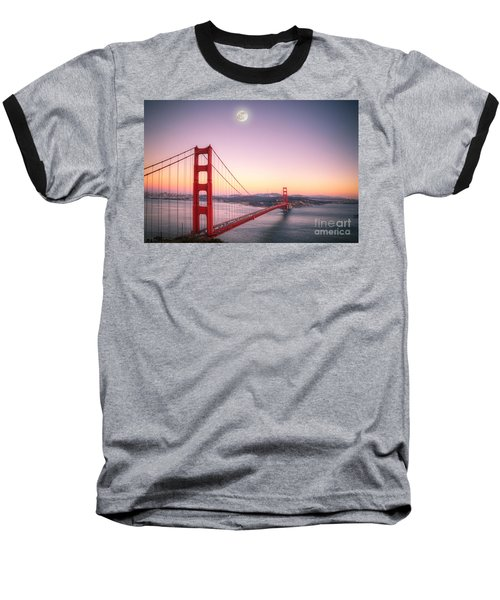 Sunset In San Francisco Baseball T-Shirt by Jim And Emily Bush