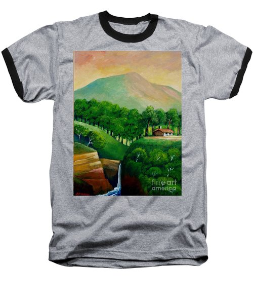 Sunset In The Mountain Baseball T-Shirt