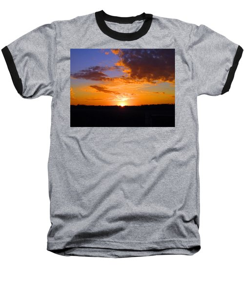Sunset In Wayne County Baseball T-Shirt