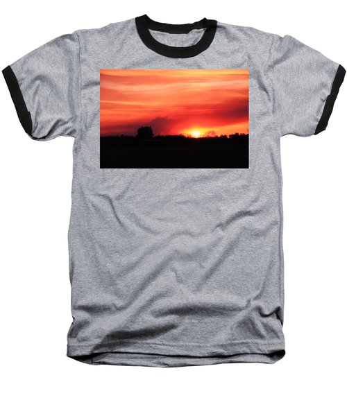Baseball T-Shirt featuring the photograph Sunset by Johanna Bruwer