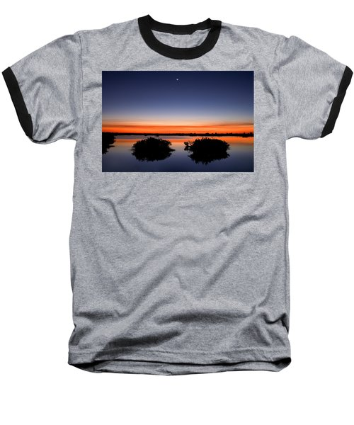 Sunset Moon Venus Baseball T-Shirt
