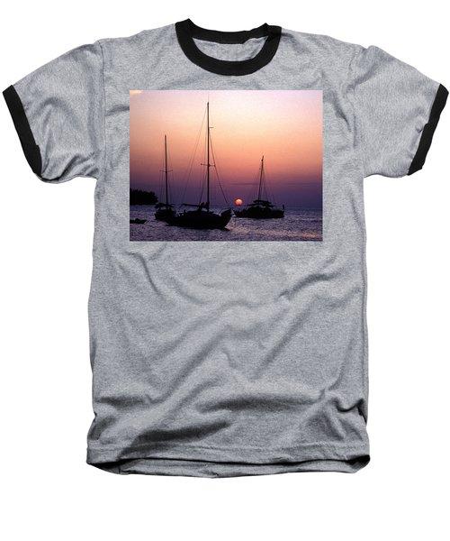 Sunset Off Simonton Street 14e Baseball T-Shirt by Gerry Gantt