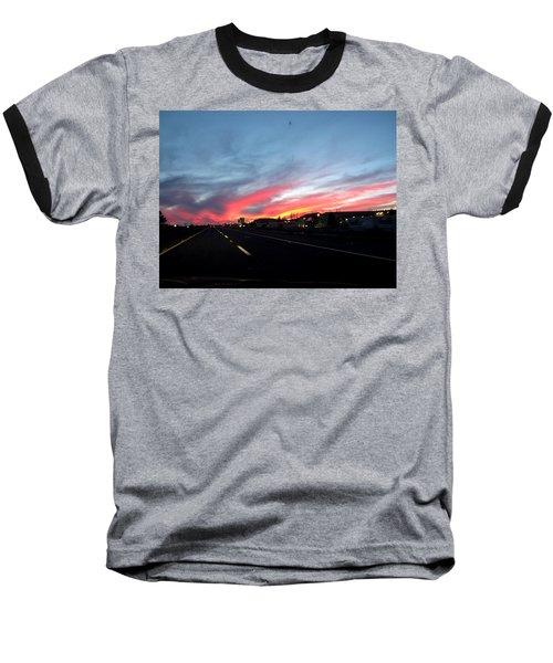 Sunset On Route 66 Baseball T-Shirt