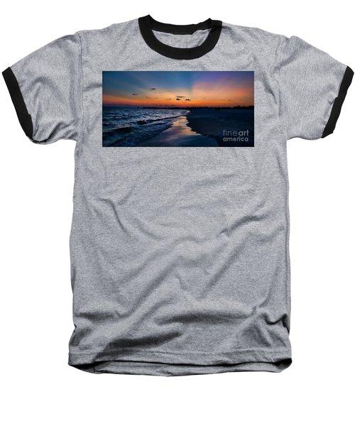 Sunset On The Beach Baseball T-Shirt