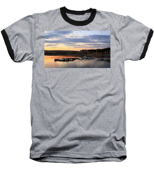 Sunset On The Lake Baseball T-Shirt