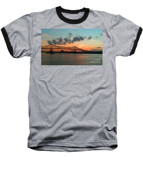 Sunset On The Mississippi  Baseball T-Shirt