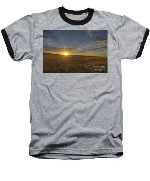 Sunset On The Prairie Baseball T-Shirt