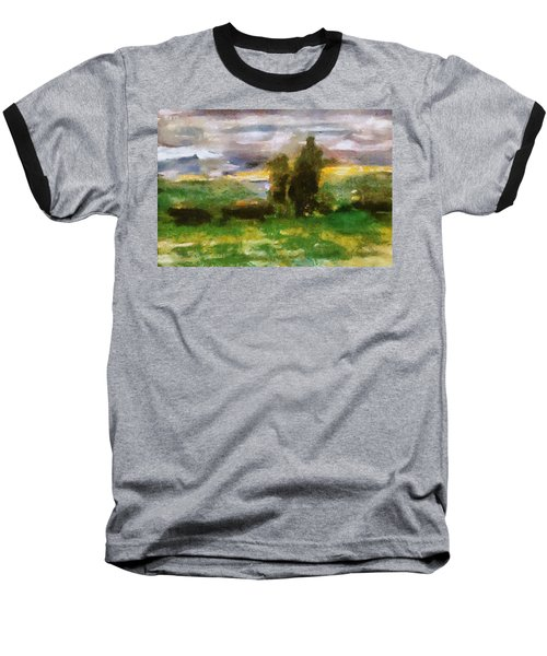 Sunset On The Road - The Highway Series Baseball T-Shirt