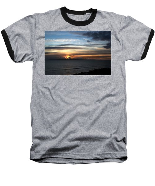 Sunset Over Poole Bay Baseball T-Shirt