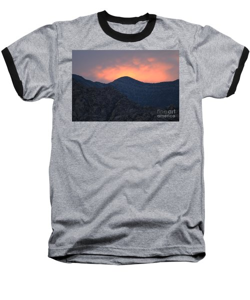 Baseball T-Shirt featuring the photograph Sunset Over Red Rock by Art Whitton