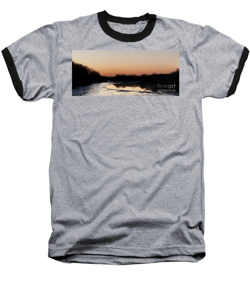 Baseball T-Shirt featuring the photograph Sunset Over The Republican River by Art Whitton