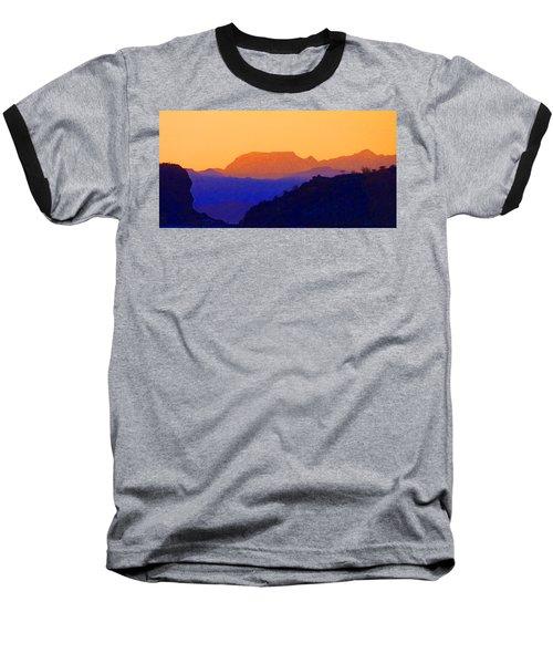 Sunset Over The Sierra Gigantes Baseball T-Shirt