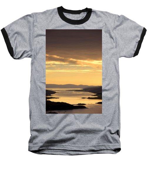 Sunset Over Water, Argyll And Bute Baseball T-Shirt