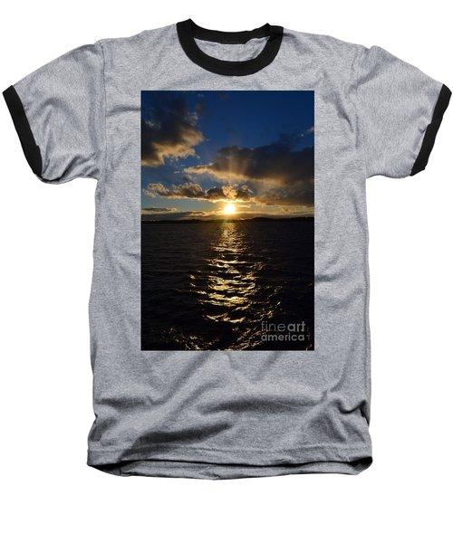 Sunset Over Winnepesaukee Baseball T-Shirt