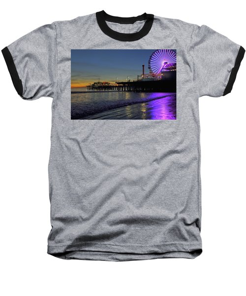 Sunset Purple Baseball T-Shirt