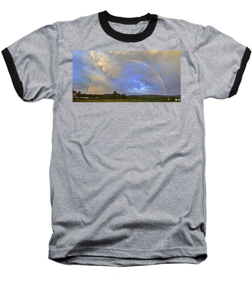 Sunset Rainbow Baseball T-Shirt