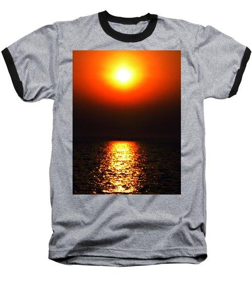 Baseball T-Shirt featuring the photograph sunset Santorini Greece by Colette V Hera  Guggenheim