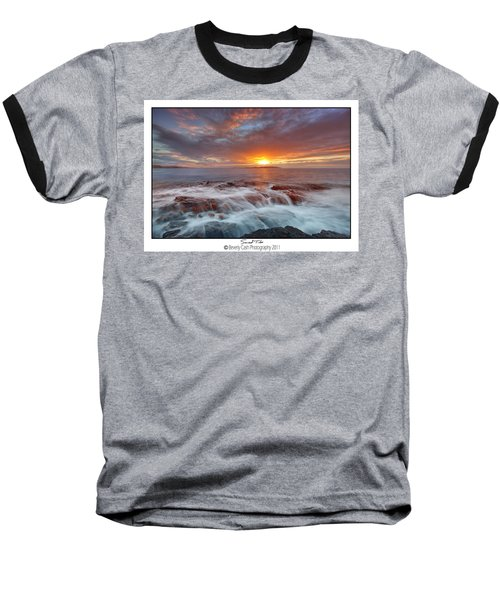 Sunset Tides - Cemlyn Baseball T-Shirt by Beverly Cash