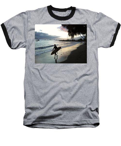Sunset Surf Baseball T-Shirt