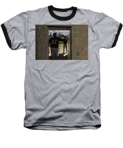 Baseball T-Shirt featuring the photograph Sunshine And Moondogs by Tom Gort