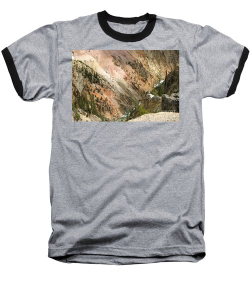 Sunshine On Grand Canyon In Yellowstone Baseball T-Shirt by Living Color Photography Lorraine Lynch