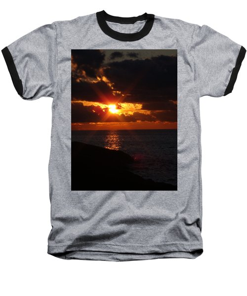 Baseball T-Shirt featuring the photograph Superior Sunset by Bonfire Photography