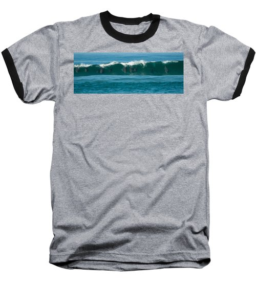Surfing Dolphins 2 Baseball T-Shirt