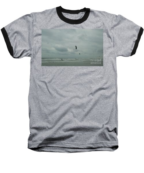 Baseball T-Shirt featuring the photograph Surfing The Wind by Donna Brown