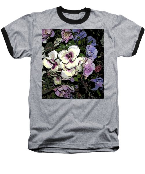 Baseball T-Shirt featuring the photograph Surrounding Pansies by Pamela Hyde Wilson