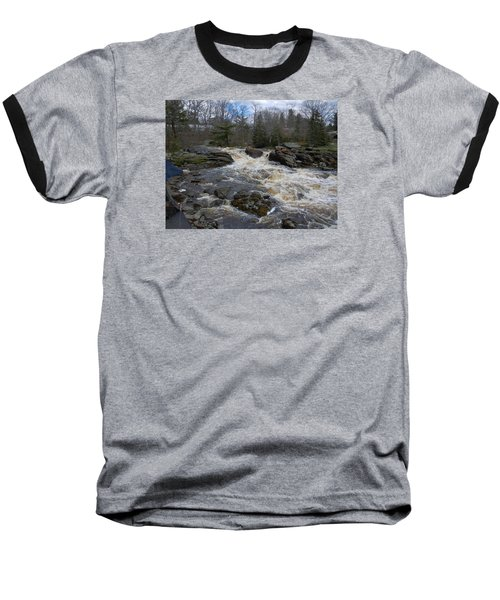 Baseball T-Shirt featuring the photograph Surry Falls by Francine Frank