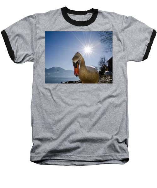 Swan Saying Hello Baseball T-Shirt