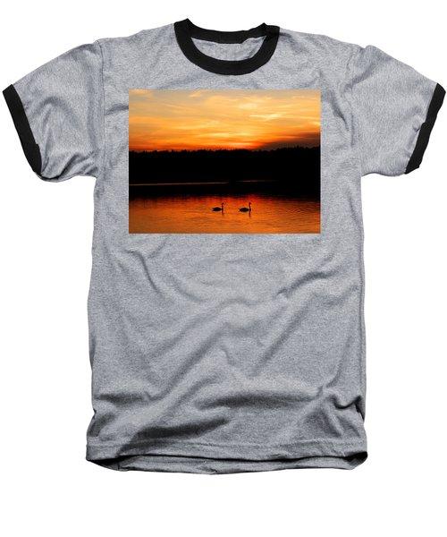 Swans In The Sunset Baseball T-Shirt